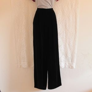 Vintage velour wide leg trouser